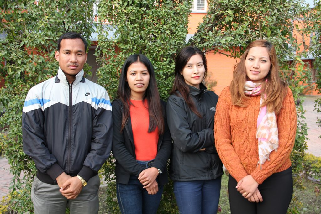 INF interns with HR Trainee