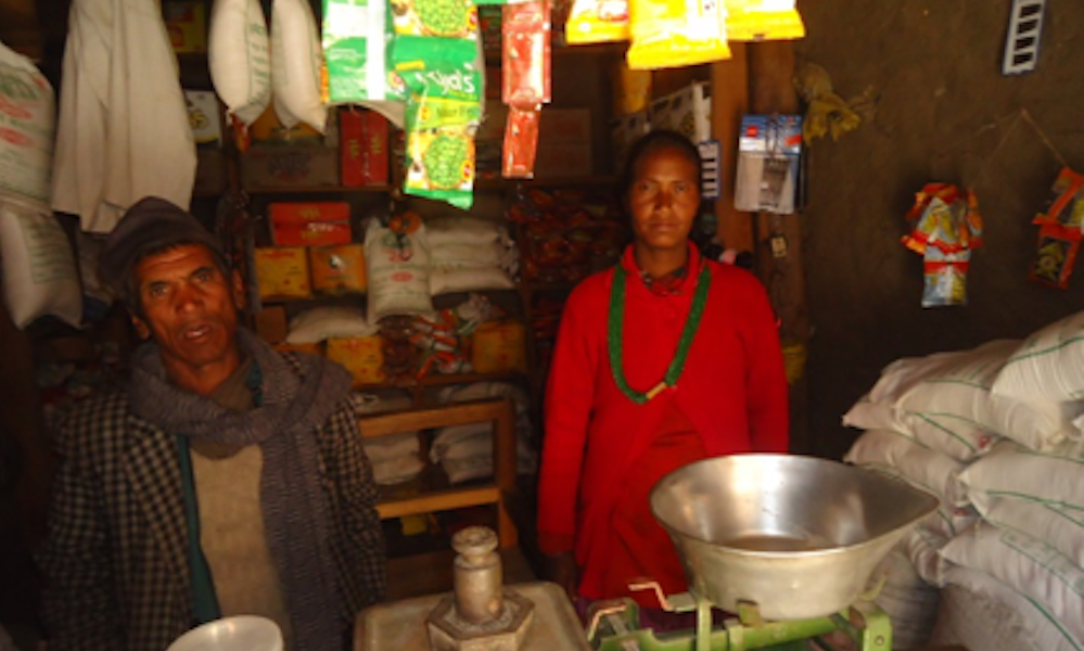 Dillisara in her shop