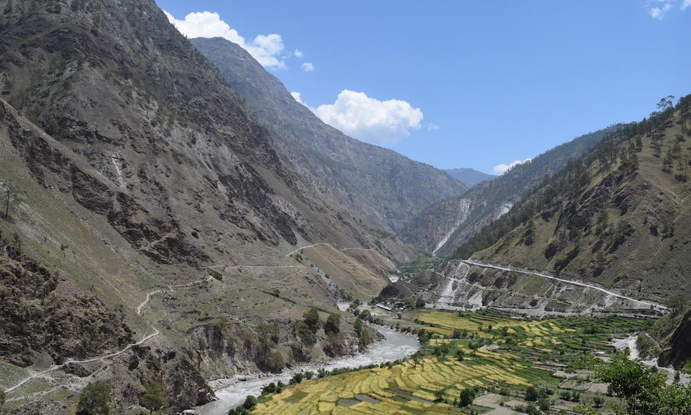 mountains and fields of Mugu