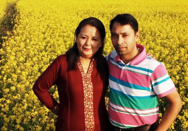Tanka Subedi with his wife Poonam