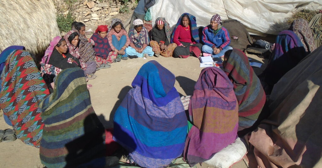 The Makhmali SHG who recommended Datta Kami for the mobility cane