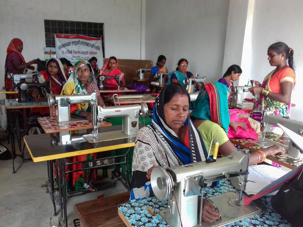 SHG members in Sewing trainings